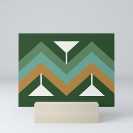 Oculus Home Green Gold Pillow Mini Art Print