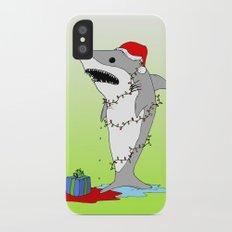 Santa Shark iPhone X Slim Case