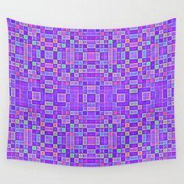 Lavender Rainbow Candy Pixels Wall Tapestry