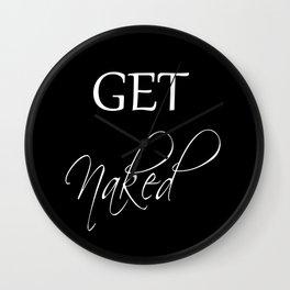 Get Naked Black Wall Clock