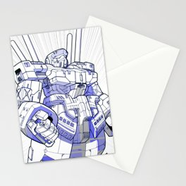 Blue Mecha Stationery Cards