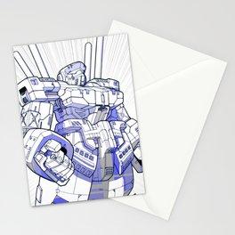 Blue Mecha Stationery Cards