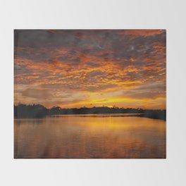 Fire Clouds Throw Blanket
