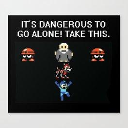 Mega man Legend of Zelda  Canvas Print