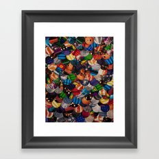 COLLAGE LOVE: Bright Lights Framed Art Print