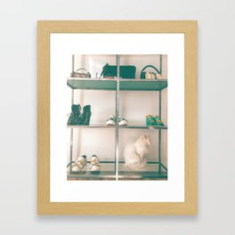 Cats & Heels Framed Art Print