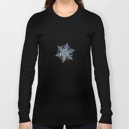 Real snowflake macro photo - Silverware Long Sleeve T-shirt