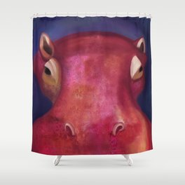 Hilda the Hippo Shower Curtain