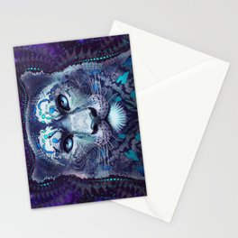 Snow Leopard Late Night Stationery Cards
