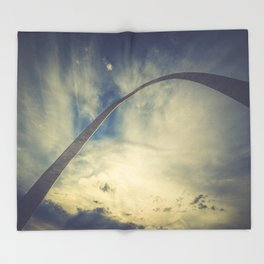 St Louis Arch at Sunset Throw Blanket