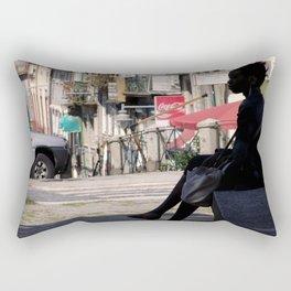 Thinker Bench Rectangular Pillow