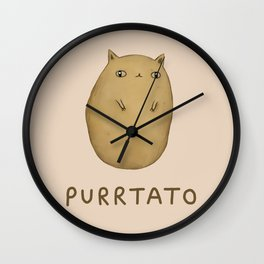 Purrtato Wall Clock