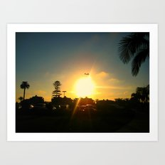 Air Plane In The Sun Art Print