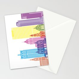 Milwaukee V2 skyline pop Stationery Cards