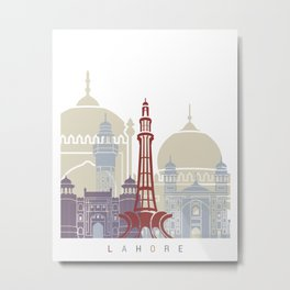 Lahore skyline poster Metal Print