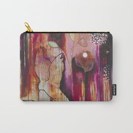 """""""Kiss"""" Original Painting by Flora Bowley Carry-All Pouch"""