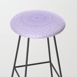 Purple Violet Mandala Design Extra Detailed Geometric Ethnic Tribal Pattern Bar Stool