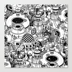 Dark Matter Space Machine Canvas Print