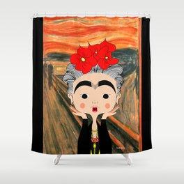 O Grito da Frida Shower Curtain