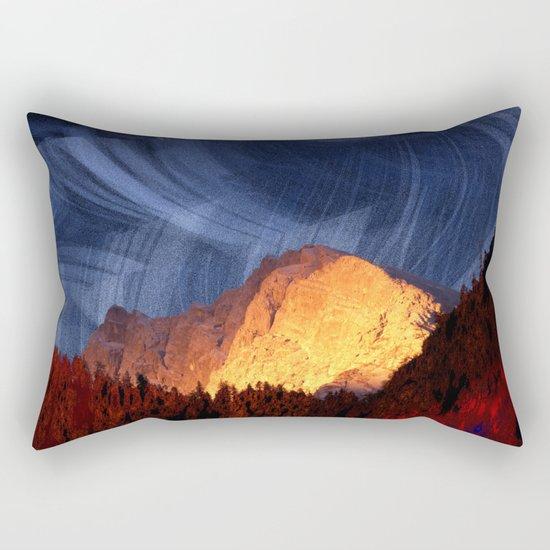 the rock at sunset Rectangular Pillow