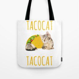 Taco Cat Gift Foodie Kitty Cat Funny Mexican Food Present Tote Bag