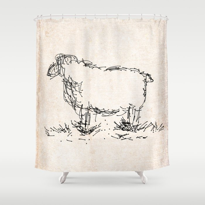 Let It Sheep Shower Curtain