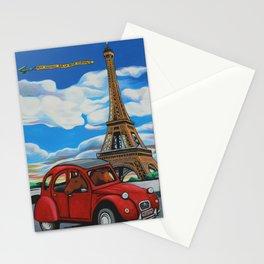 2 Chevaux sur la 2 Chevaux Stationery Cards
