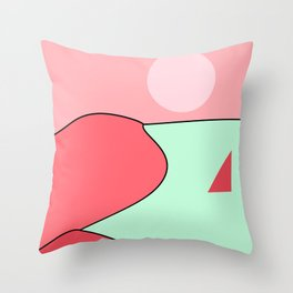 Happy Place - Coral Mint Throw Pillow