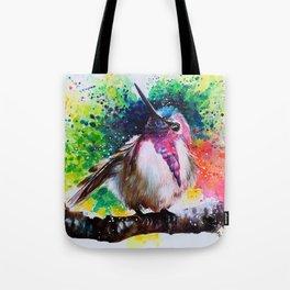 Costa's Hummingbird Acrylic Painting Tote Bag