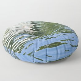 Colorful Reflections Abstract Floor Pillow