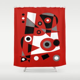 Abstract #905 Shower Curtain