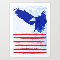 Flying The Flag Art Print