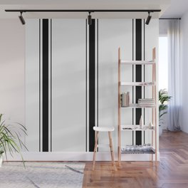 Black And White Stripes Wall Mural