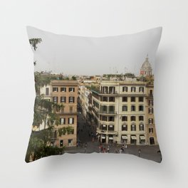 View from the Spanish Steps Throw Pillow