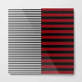 Different Sides (red) Metal Print