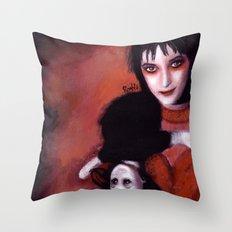 Lydia Deetz Throw Pillow