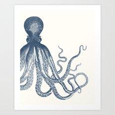 Offset Octopus Art Print