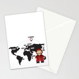 La casa de Papel Money Heist Map Stationery Cards