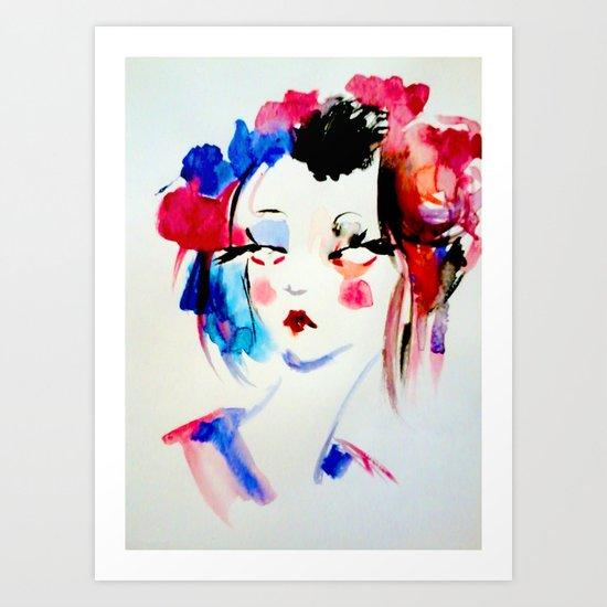 Water Color Sketch Art Print