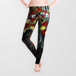 Elephant Red and Gold Indian Yoga Mandala Leggings