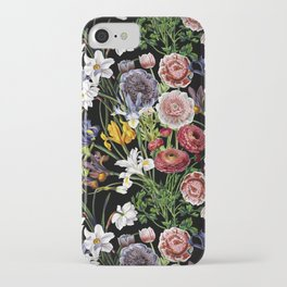 Vintage & Shabby Chic - Lush baroque flower pattern iPhone Case