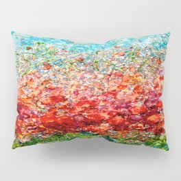 Field Of Spring Poppies Panorama Pillow Sham