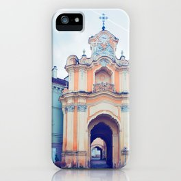 Ancient Basilian gate in the Old city in Vilnius iPhone Case