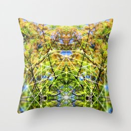 GeoBotanica V2 Throw Pillow