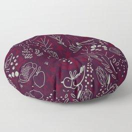 Burgundian winter holiday mood. Floor Pillow