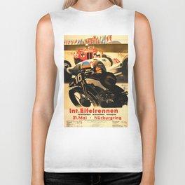 Nurburgring Race, vintage poster Biker Tank
