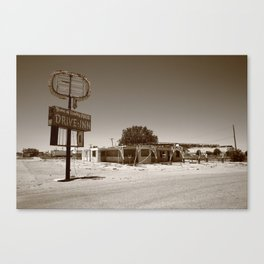 Route 66 - Abandoned Drive-In 2012 Canvas Print