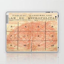 Vintage Paris City Centre Map Laptop & iPad Skin