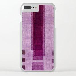 """Blackberry Retro Squares"" Clear iPhone Case"