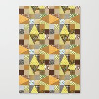 quilt Canvas Prints featuring quilt by notbook